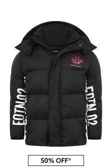 Kids Black Polyamide Jacket