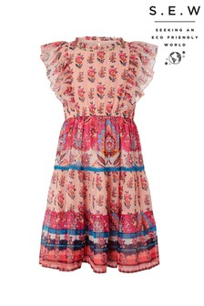 Monsoon Orange S.E.W Coral Paisley Dress