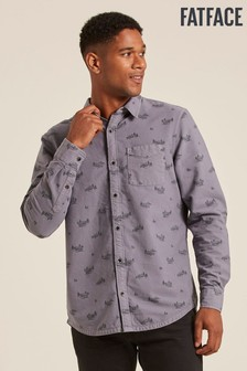 FatFace Grey Land Rover Print Shirt