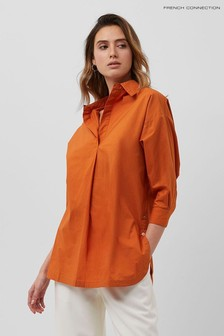 French Connection Orange Rhodes Organic Shirt
