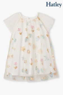 Hatley White Party Confetti Baby Rainbow Tulle Dress
