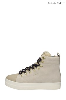 GANT Cream Aurora Mid Lace Trainers