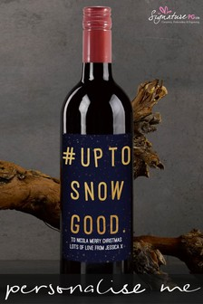Personalised Snow Good Red Wine by Signature PG