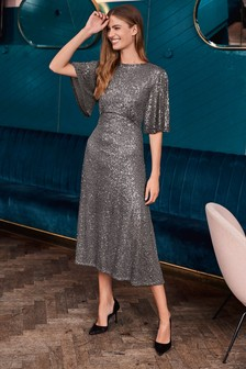 Sequin Midi Tea Dress