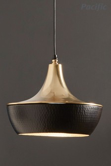 Sumac Antique Brass And Bronze Metal Pendant by Pacific Lifestyle