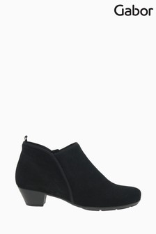 Gabor Trudy Black Suede Fashion Ankle Boots