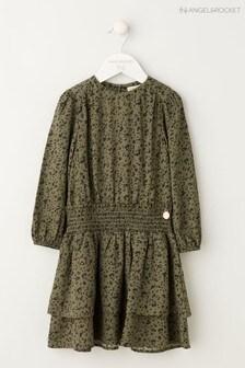 Angel & Rocket Green Drop Waist Dress