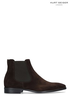 Kurt Geiger London Brown Frederick Boots