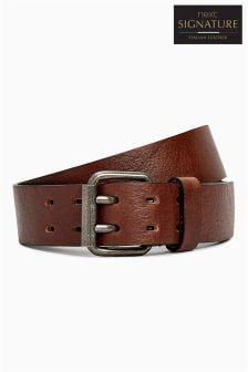 Signature Collaboration Italian Leather Casual Belt