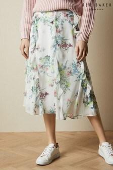 Ted Baker Cream Lurissa Pergola Printed Midi Skirt