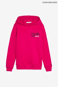 Calvin Klein Pink Jeans Small Stamp Logo Hoody