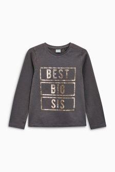 Best Big Sis Long Sleeve T-Shirt (9mths-6yrs)