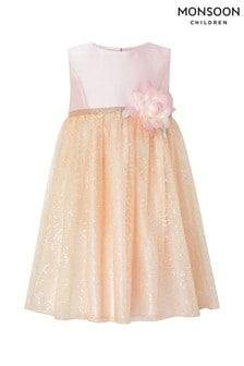 Monsoon Pink Baby Tatiana Sequin Dress