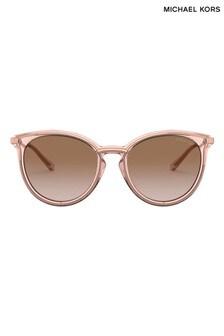 Michael Kors Pink Transparent Brisbane Sunglasses