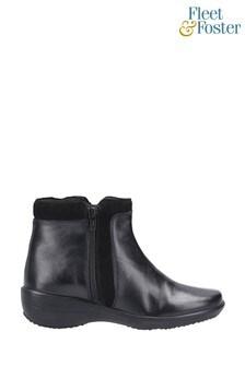 Fleet & Foster Mona Zip Ankle Boots