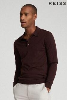 Reiss Trafford Merino Wool Poloshirt