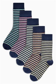 Stripe Socks Five Pack
