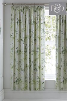 Florence Floral Lined Pencil Pleat Curtains by D&D