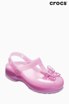 Crocs™ Carnation Pink Isabella T-Bar Clog Shoe