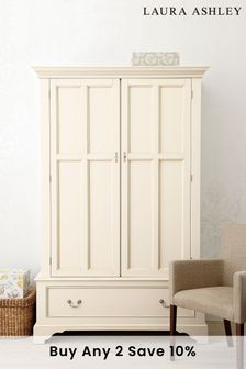 Clifton Ivory 2 Door 1 Drawer Wardrobe by Laura Ashley