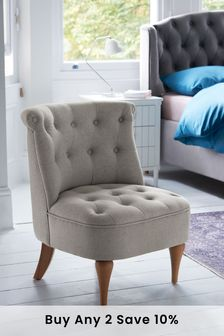 Eliza Accent Chair With Light Legs