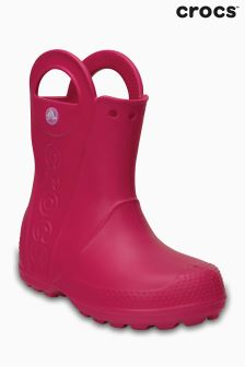 Crocs™ Candy Pink Handle It Rain Boot Welly