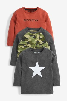 3 Pack Superstar T-Shirts (3mths-7yrs)