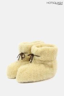 HotSquash Womens Cream High Full Slippers