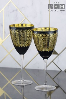 2 Pack Wine Glasses By The DRH Collection