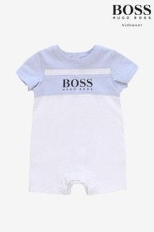 ثوب أطفال أزرق بشعار منBOSS