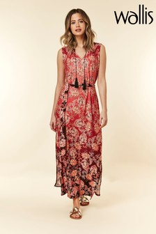 Wallis Petite Rust Ombre Paisley Print Maxi Dress