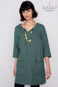 Seasalt Green Delicate Shading Dark Lichen Tunic