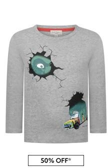 Paul Smith Junior Boys Grey Cotton T-Shirt
