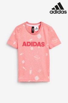 adidas Little Kids Pink Print T-Shirt