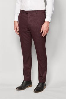 Nep Textured Suit Trousers