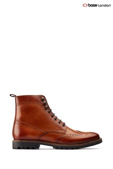 Base London® Tan Boone Lace Up Boots