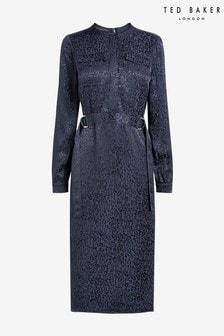 Ted Baker Kinzley Animal Jacquard Utility Midi Dress
