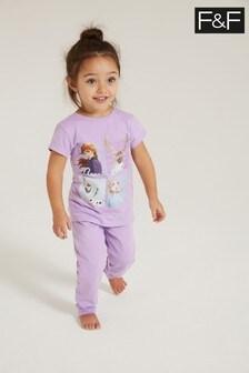 F&F Lilac Frozen Pyjama Set