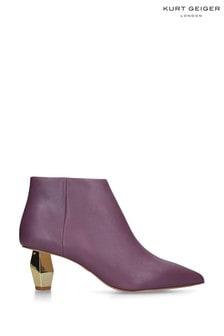Kurt Geiger Ladies Della Purple Leather Boots