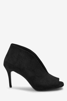 Open Front Shoe Boots