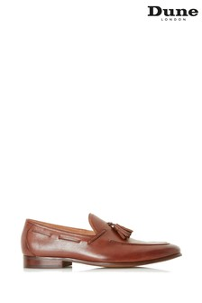 Dune Mens Tan Unlined Tassel Loafer