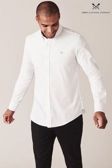Crew Clothing Company White Crew Slim Oxford Shirt