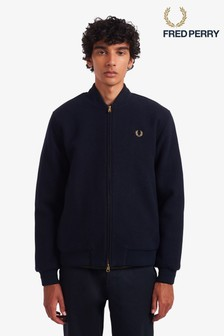 Fred Perry Melton Wool Bomber Jacket