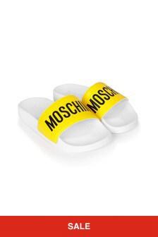 Moschino Kids Red Sliders