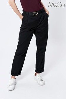 M&Co Black Relaxed Chino Trousers