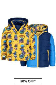 Boys Bicolour Reversible Quilted Jacket