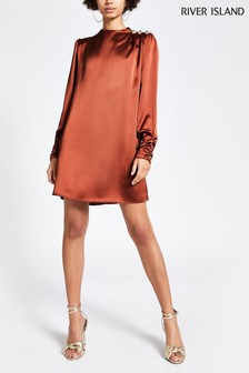 River Island Conker Maniloe Swing Dress