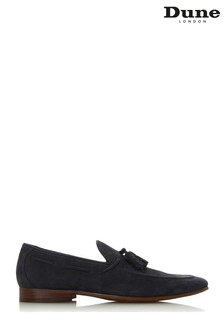 Dune Mens Blue Unlined Tassel Loafer