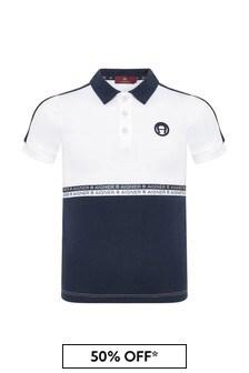 Aigner Baby Boys Navy Cotton Boys Polo Shirt