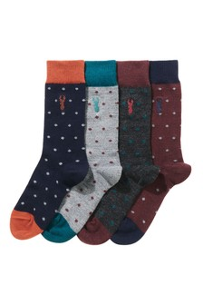 Spot Socks With Merino Wool Four Pack